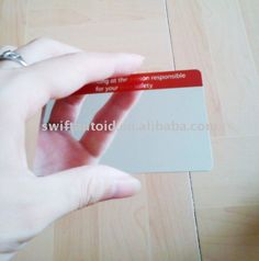 Plastic Mirror Business Card