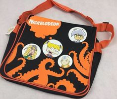 """Nickelodeon Messenger Bag Cross Body bag Bag measures approx side x high x depth Strap drop at full extension measures about from top of strap to top of bag Cool TV themed Accessories Tag reads """"Bensons """" Pre owned but Never Used Kids Cartoon Characters, Cartoon Kids, Kids Clothing Rack, Cheap Kids Clothes, Lit Shoes, Clothing Size Chart, Boy Fashion, Messenger Bag, Gym Bag"""