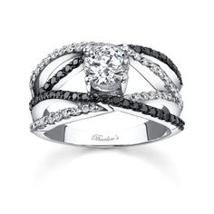 Black diamond engagement ring. LOVE LOVE LOVE Black Diamond!!
