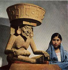 """iztac-coatl: """"  Huehueteotl (the old god) - Mexica god of fire """""""
