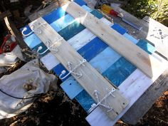 Pallet Coat Rack-Inspired of Coastal or Beach Decors   99 Pallets