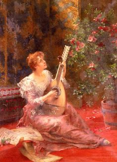 The Lute Player, by Conrad Kiesel (1846 - 1921)