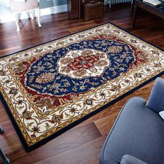 The Orient rugs are handmade to the highest standards in India with an elegant selection of colours. #InteriorDesign #Traditional
