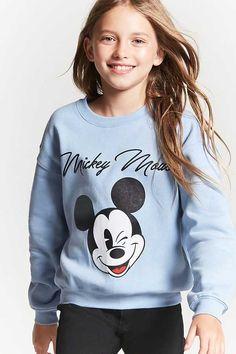 FOREVER 21 Girls Mickey Sweatshirt (Kids) #affiliatelink
