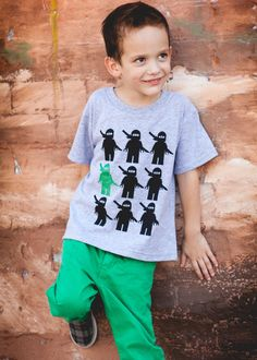 LEGO Ninjago (and other) kids' t-shirts by iLego on Etsy - really cute shirts...!