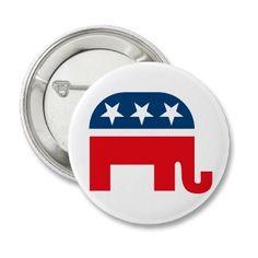 Republican Elephant Pinback Button
