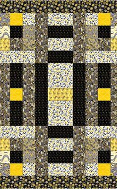 Fabric Central Lap Quilt, free pattern! - a great fall project.