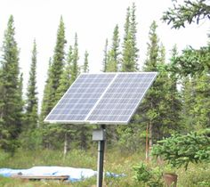 Off-Grid Solar AC Power for small house (would take more panels of course, and can be roof mounted)