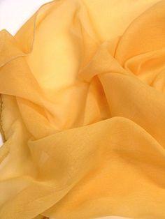 Orange sheer fabric for curtains 118 long superior by Eleptolis