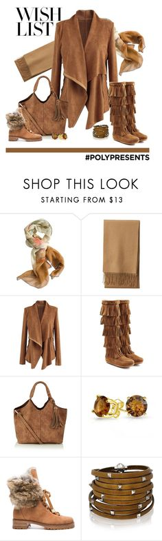 """#PolyPresents: Wish List"" by patricia-dimmick ❤ liked on Polyvore featuring Chesca, Uniqlo, Chicwish, Minnetonka, Bling Jewelry, Alexandre Birman, Sif Jakobs Jewellery, gifts, contestentry and cashmere"