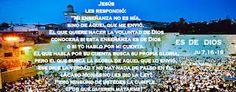 "EVANGELIO DE JUAN: "" ES DE DIOS "" Ju 7,16 - 19"
