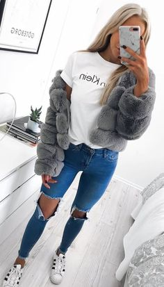 Women Faux Fur Coat Fashion 2018 Winter Thick Long Sleeve Plus Size Furry Fake Fur Fluffy Female Jacket Outwear Trendy Fall Outfits, Fall Winter Outfits, Casual Outfits, Fashion Outfits, Winter Clothes, Sweater Outfits, Work Outfits, Winter Style, Womens Fashion
