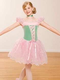 Pink Green Ballet Tap Jazz Pageant Skate Competition Dance Girls Costume MC | eBay