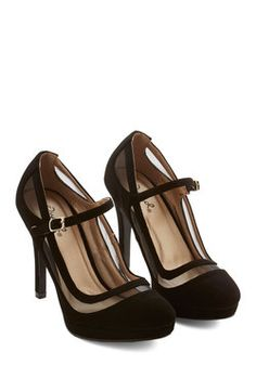 Soiree It Again Heel in Black. Youll say it once, youll say it twice - you cant get enough of these black heels! #black #prom #wedding #modcloth