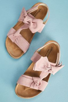 Jeffrey Campbell Suede #Bow #Sandals