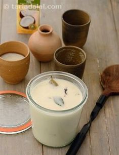 A rare combination of coconut milk and curds thickened with besan and flavoured with spices gives rise to a soothing yet flavourful Coconut Kadhi. Veggie Recipes, Indian Food Recipes, Milk Curd, Healthy Cooking, Cooking Recipes, Indian Drinks, Cant Stop Eating, Healthy Juices, Kitchens