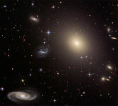 This stunning group of galaxies is far, far away - about 450 million light-years from planet Earth - cataloged as galaxy cluster Abell S0740. Dominated by the cluster's large central elliptical galaxy (ESO 325-G004), this sharp Hubble view takes in a remarkable assortment of galaxy shapes and sizes with only a few spiky foreground stars scattered through the field.