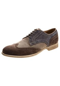 U JOURNEY - Sportlicher Schnürer - ebony/dark grey Men Dress, Dress Shoes, Dark Grey, Derby, Oxford Shoes, Journey, Lace Up, Fashion, Oxford Shoe