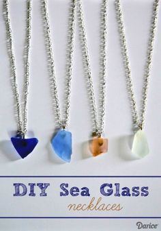 Dollar Store Crafts » Blog Archive » Make a Sea Glass Necklace