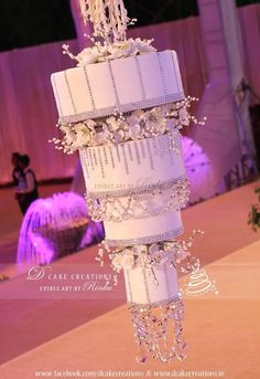 White Chandelier Cake - Cake by D Cake Creations™