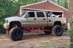 Perfect weekend planned. Lifted Chevy truck with stacks and atv ridin!