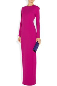 Chalayan                                  Crepe maxi dress                              $957  Shown here with: Anndra Neen necklace, Maison Martin Margiela ring, Givenchy shoes, Jimmy Choo clutch.
