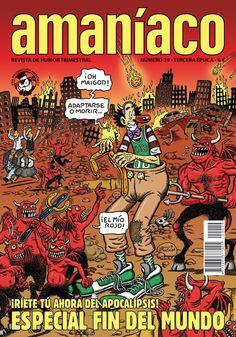 Portada del número 19 de la revista Amaníaco, un especial fin del mundo, que realizó el dibujante Vicente Montalbá.