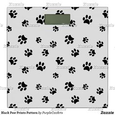 Black Paw Prints Pattern Bathroom Scale