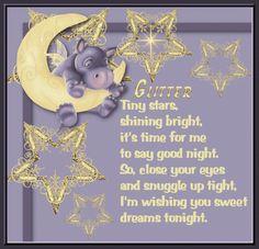 Glitter Tiny Stars Good Night Wishes