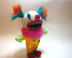 Creepy Clown Doll Clown Horror Plushie Crochet Evil Clown
