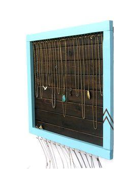 Jewelry Storage // Necklace & Ring Display Organizer by DesignSea, $135.00