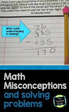 """At first this blog post was about teaching elapsed time...but quickly turned into a """"How can we tackle math misconceptions"""" post. Check it out!"""
