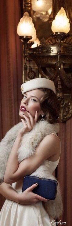 Photograph Yesteryear by Alba Soler Retro Pin Up, Fashion Images, Women's Fashion, High Society, White Fur, Rich Girl, Winter White, Glamour, Style Inspiration