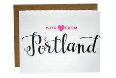 Portland, Maine Letterpress printed in Providence, RI