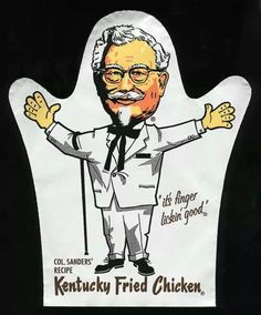 Hand puppet from Kentucky fried chicken.