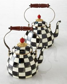 Mackenzie Childs MacKenzie-Childs Courtly Check Tea Kettle on shopstyle.com