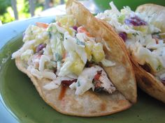 Grilled Halibut Tacos with Fresh Pineapple Slaw