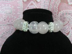 Rose Quartz Bracelet Wedding Bracelet Pink by NaturesJewelsByVina, $40.00