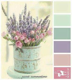 Pastel Pink, Purple and Mint colour combination