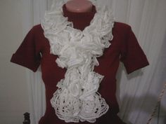 white scarf by YARNARTWORLD on Etsy, $25.50