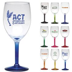 Promotional 8.5 oz. Nuance Wine with Custom Glow Glass | Customized Wine Glasses | Promotional Wine Glasses