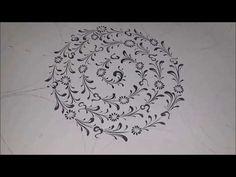 Brave Brush - Haliç - Çini Tahrirleme 14 - YouTube Turkish Tiles, Turkish Art, Arabic Pattern, Pattern Art, Mandala Painting, Mandala Art, Pottery Videos, Illumination Art, Pottery Techniques