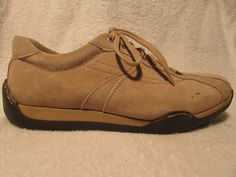 Mens Sz 11 M Beige Suede Casual Shoes by Franco Fortini | eBay