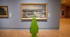 #Bentonville's favorite bird on a field trip to Crystal Bridges Museum of American Art.