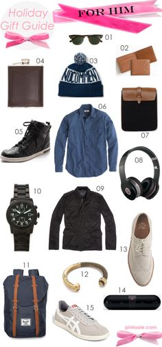 Holiday #Gift Guide: For HIM | For #Men - quality clothing is always a good idea (see: sneakers, sunglasses, ...)