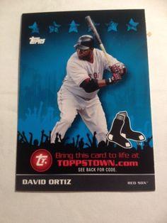 2009 Topps Topps Town David Ortiz Boston Red Sox Baseball Card #TTT27 MT #BostonRedSox