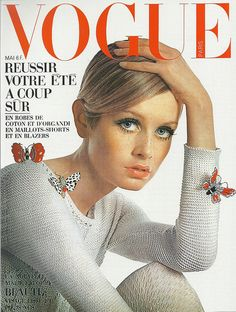 Vogue 1967-I don't think a lot of people know that Twiggy has Turner's Syndrome, and that her physical stature is not typical for a woman.  We were, however, led to think we were not really good enough if we did not look like her.  Thanks Hollywood