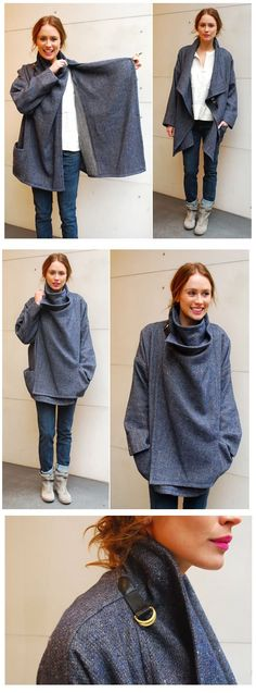 64 New Ideas Sewing Clothes Winter Coat Patterns Coat Patterns, Clothing Patterns, Dress Patterns, Sewing Patterns, Knitting Patterns, Crochet Patterns, Sewing Clothes, Diy Clothes, Dress Sewing