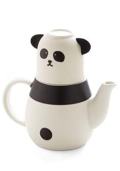Panda Cup of Tea Set
