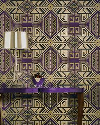 Jonas Cord - Osborne & Little Wallpaper Tile Wallpaper, Pattern Wallpaper, Osborne And Little Wallpaper, Statement Wall, Wall Installation, Wall Patterns, Purple, Magenta, Lilac